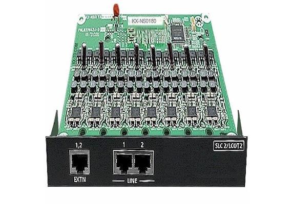 2-Port analoge Amtskarte mit 2 anal. Nebenstellen