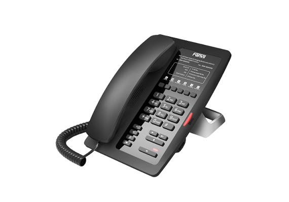 Fanvil H3 SIP Deskphone Speziell für den Einsatz in Hotelzimmer entwickelt