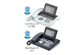 OpenStage 40 HFA V3 Eis-Blau